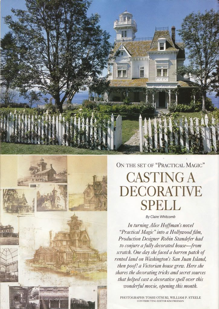 Practical magic the house the cast a spell inspiration rockabilly shabby chic arts crafts - Practical home tips easy solutions ...