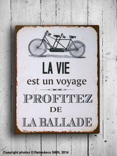 32 best images about citations sur la vie citations about for Plaque metal deco pour mur