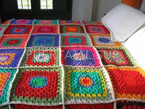 1000 images about cubrecamas pieceras on pinterest diy - Como hacer mantas de patchwork ...