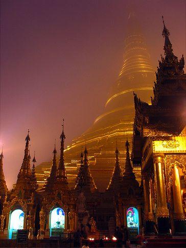 Shwedagon Pagoda, Yangon, Myanmar. The Golden Pagoda located in Yangon, Myanmar's de facto capital, is the most sacred Buddhist pagoda for the Burmese