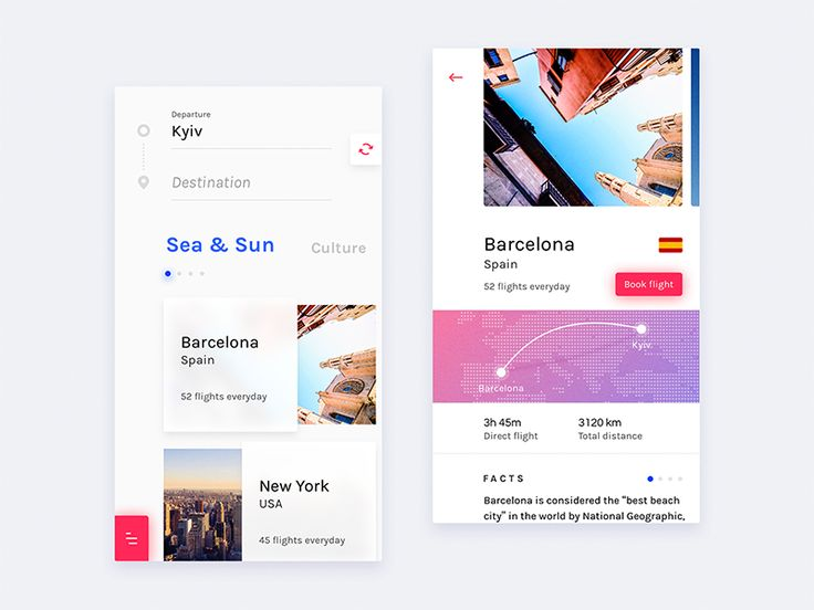 Some screens from my upcoming Flight booking app project.  Behance Instagram Twitter