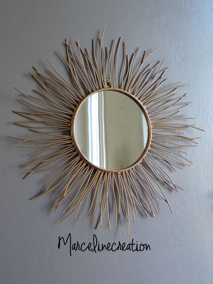 17 meilleures id es propos de miroir soleil sur pinterest miroir starburst miroir en forme. Black Bedroom Furniture Sets. Home Design Ideas
