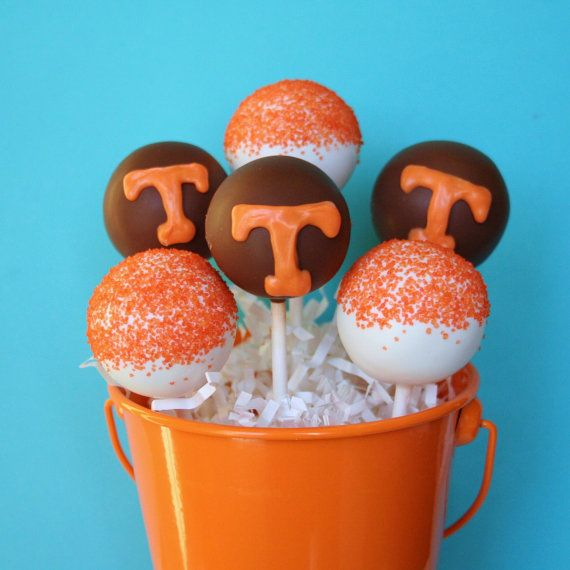 12 Cake Pops for University of Tennessee, UT student welcome gift, college care package, sorority rush, party favor, football tailgate snack