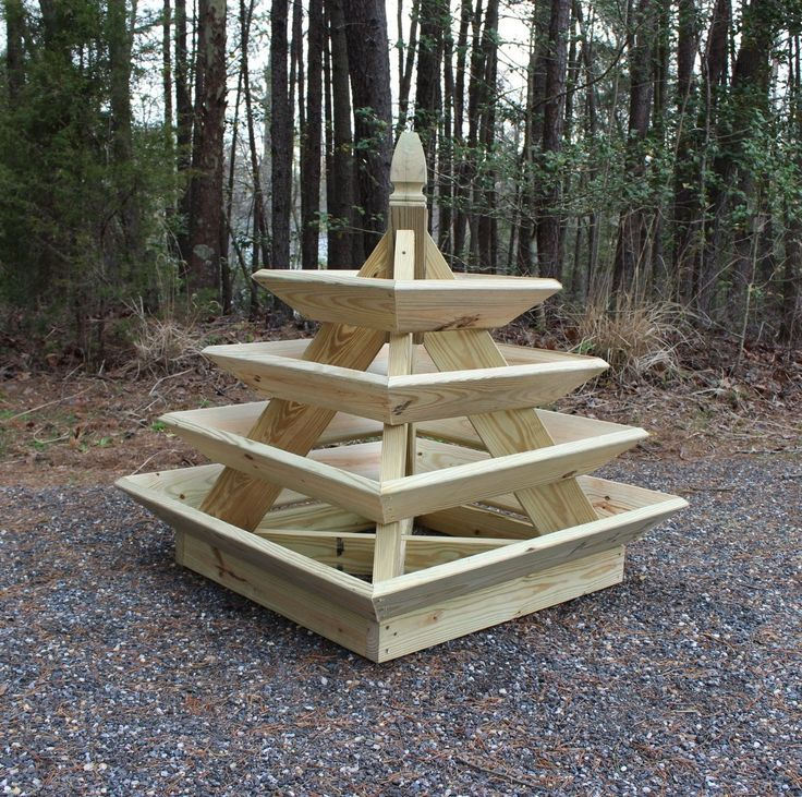 Downloadable Woodworking Plans – Pyramid Planter – Illustrated with Photos