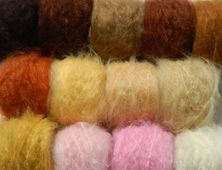 Wild Brushable Mohair 30g balls The yarn I use the most!