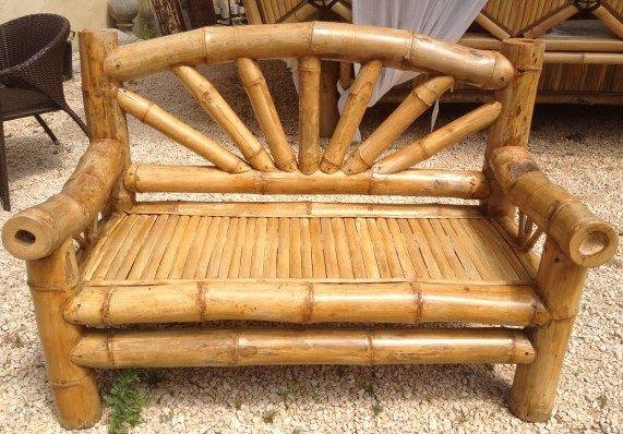mobilier en bambou | en bambou banc en bambou sun réalisé dans une variété de bambou ...