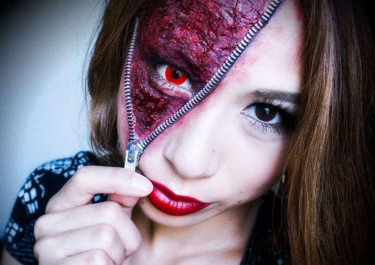 Unzipped Zipper Face Makeup Tutorial:The best tutorial