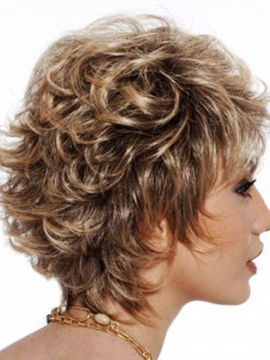 Short Layered Hairstyles Shaggy Short Hairstyles For Curly Hair With Layered Hair - pictures, photos, images