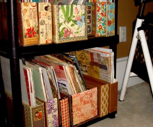 How to Make Shipping Box Scrapbook Storage - Snapguide by Nichola #graphic45