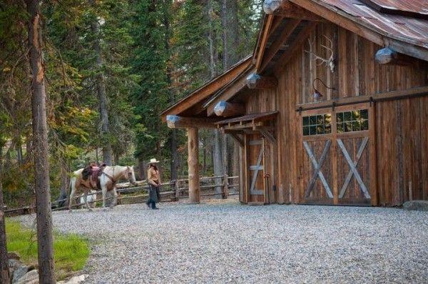 Big Plans Little Budget Soffit B Gone: Rustic Mountain Cabin Retreat In Big Sky