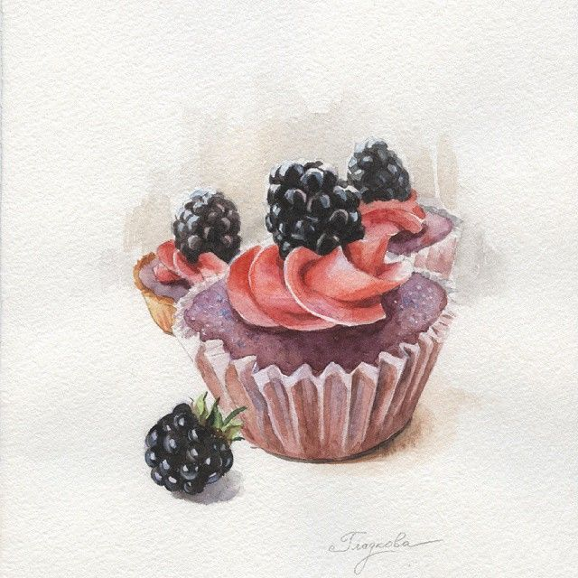 Tatagladcova | WATERCOLOR | Cupcake