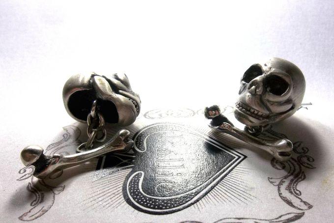 Skull & Bone Cuff-links  by Kallie