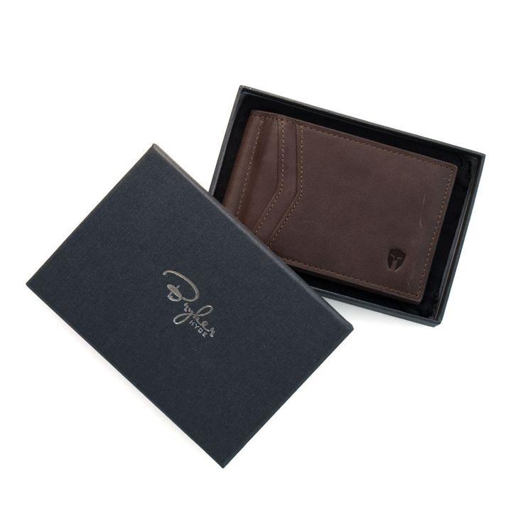 Minimalist RFID Wallet - Chocolate Distressed Leather