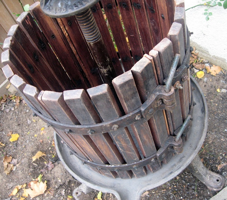 Italian wine press...Just like the one my dad had when I was growing up!