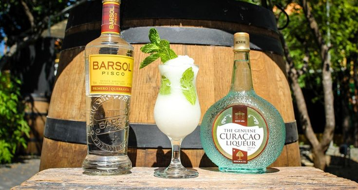 A fresh cocktail for hot summer days. The blend of Pisco and Curaçao Triple Sec gives it a unique bite. Pisco is an amber color brandy in Peru and Chili.