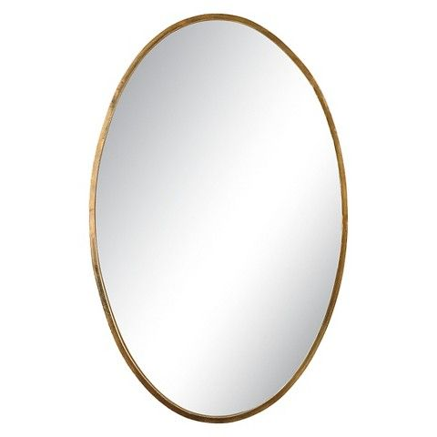 Uttermost herleva gold oval mirror 17 5 wide x 28 for Fancy oval mirror