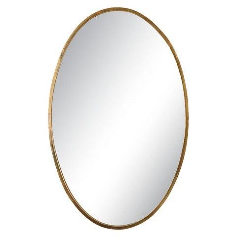 "Uttermost Herleva Gold Oval Mirror $195.80 17.5""Wide x 28""tall Powder Room"