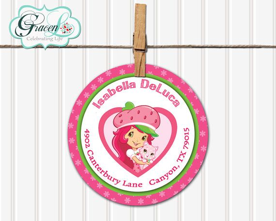 Strawberry Shortcake Return Labels Strawberry by GracenLDesigns, $5.99