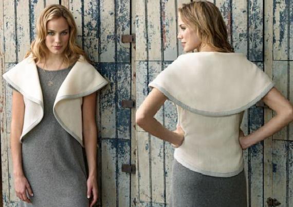 VCTRY's BLOG: Como hacer un chaleco circular, superfacil, con o sin coser - no sew bolero