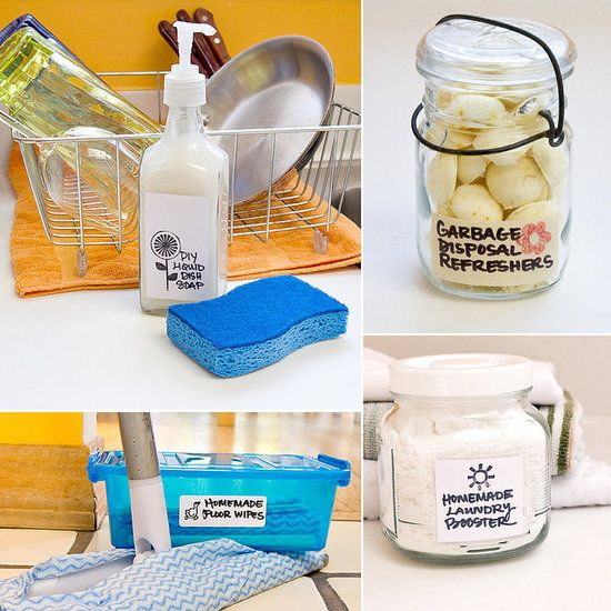 Make These 20 DIY Cleaning Products For Pennies If you're tired of reaching for cleaning products with ingredients you can't even pronounce, then head to your local grocery store for a few basic components and make your own. These eco-friendly concoctions will leave your house sparkling. From window cleaner to grout whitener, you'll be amazed at how easy these DIYs are to pull off.
