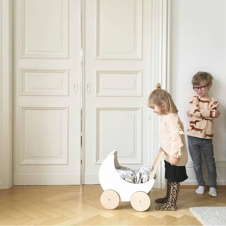 When your sister won't let you push her toy pram ... #siblings #siblingplay 📷 by @cecepaul www.ooh-noo.com