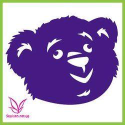 Трафарет медведь  ― Papillon - товары для боди-арт дизайна и декорирования