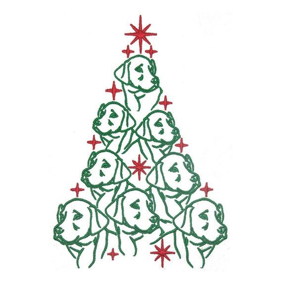 Dog Labrador Christmas Tree Machine Embroidery Instant Etsy In 2020 Christmas Tree Embroidery Design Christmas Embroidery Designs Embroidery Designs
