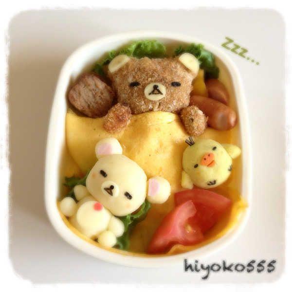 Rilakkuma croquette bento  #food #bento #rilakkuma #cute #kawaii
