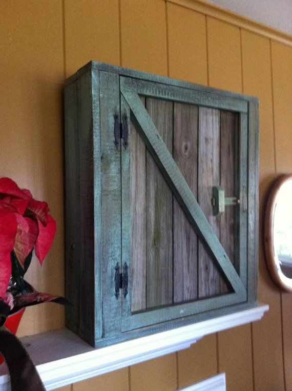 wood cabinet made from pallets diy