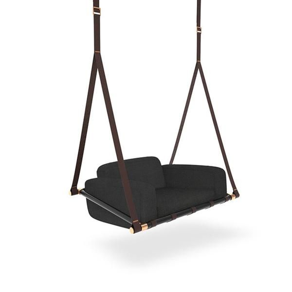 Leather Swing Seats Adding Chic of Modern Hanging Chairs and Sofas to  Living Spaces