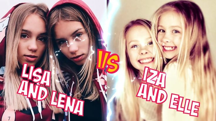 Lisa and Lena VS Iza and Elle l Battle Musers l Musical.ly Compilation
