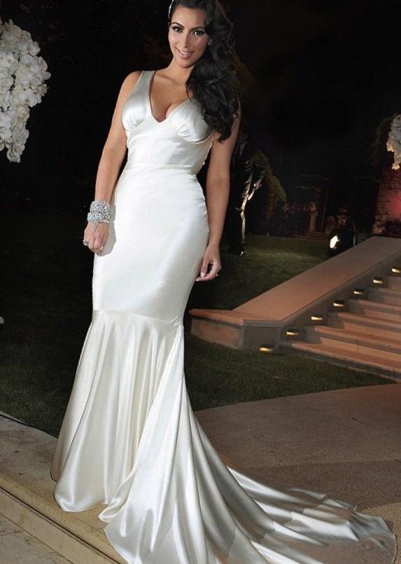 Kim K Wedding Reception Dress Fashion Dresses