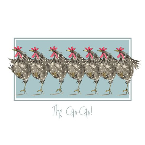 """""""The Cancan!"""" by Sarah Boddy (DoodleDoo Personalised Charity Cards)"""