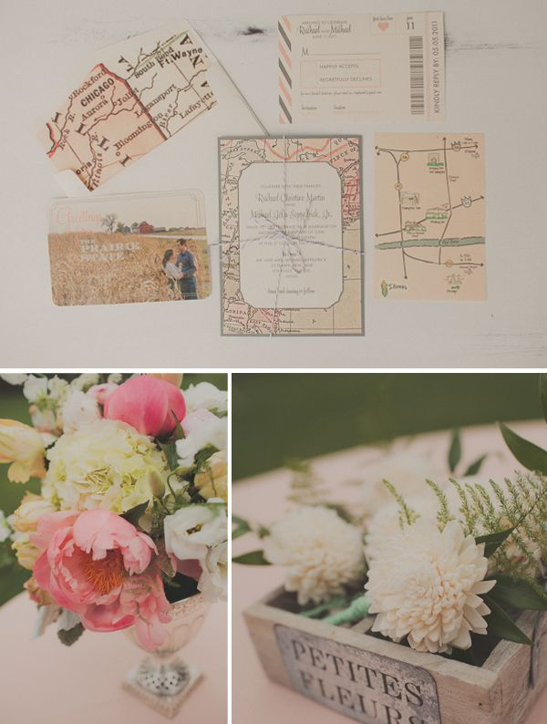 vintage travel wedding
