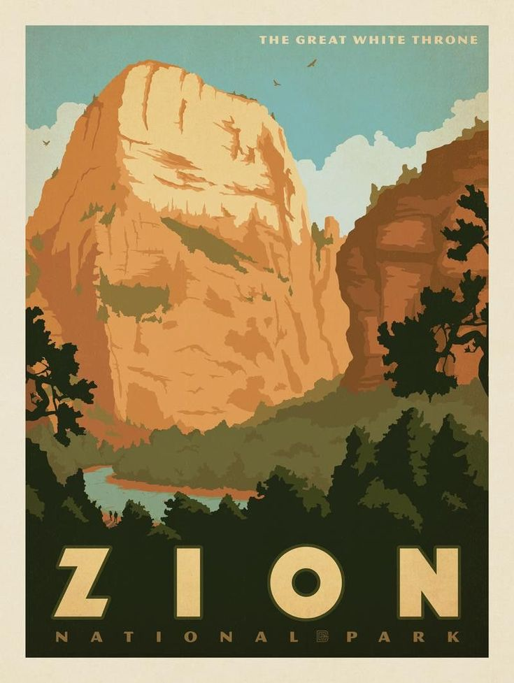 Anderson Design Group – American National Parks – Zion National Park: The Great White Throne