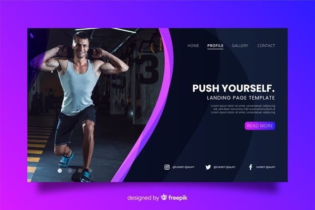 Download Sport Gym Landing Page For Free Landing Page Fitness Websites Sport Gym