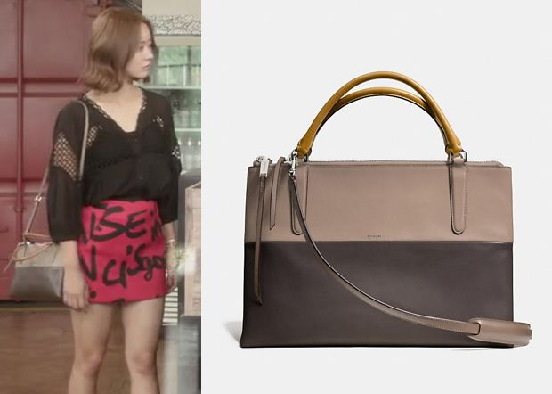 """Han Groo 한그루 in """"Marriage, Not Dating"""" Episode 16.  Coach Borough Bag In Retro Colorblock Leather #Kdrama #MarriageNotDating #연애말고결혼 #HanGroo"""