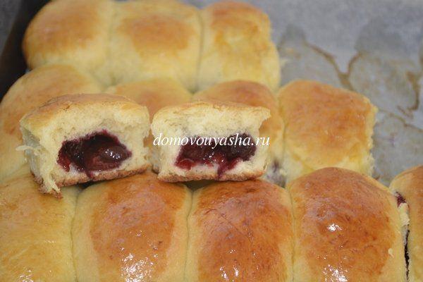 Пирожки с вишней в духовке рецепт с пошаговыми фото