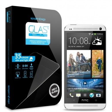Protector Pantalla HTC One Spigen SGP Cristal Templado Oleophobic Glas T SLIM