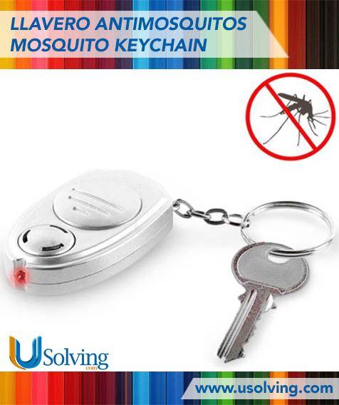 Una de las cosas más odiadas en verano es la aparición de miles de mosquitos y bichejos voladores.? Algunos además de molestar con su ruido, tienen incluso la osadía de picarnos y fastidiarnos durante horas. Además el Llavero Antimosquitos cuenta con un botón en su parte frontal para activar una luz led de color roja a modo de linterna.  http://www.usolving.com/es/repelente-ahuyentadores/2969-llavero-antimosquitos-mosquito-keychain.html