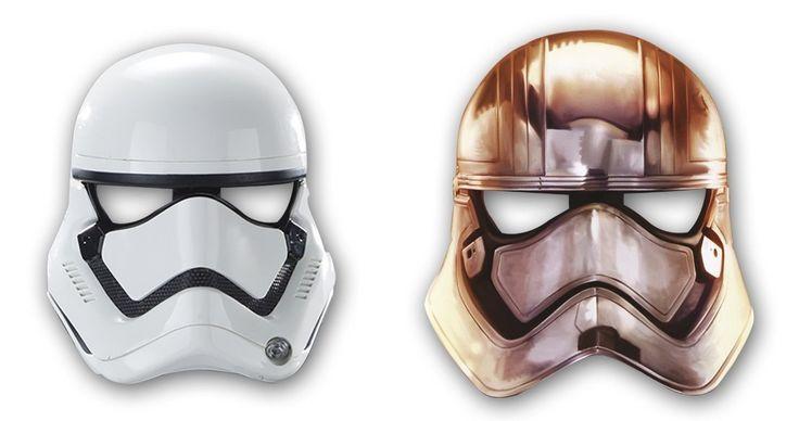 """6 maschere in carta * STAR WARS VII * Per bambini e feste a tema // per costume da bambini, Compleanni, dal Film """"Il risveglio della forza"""", motivo: Darth Vader: Amazon.it: Giochi e giocattoli"""