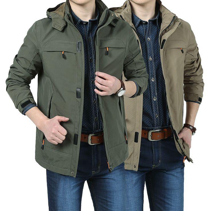 Hot sales! Autumn winter men Jacket Casual overcoat Outerwear breathable Mens Jacket Waterproof Coats 4XL Windbreaker Men L135