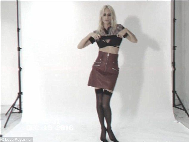 Poppy Delevingne performs sizzling striptease for latest LOVE Mag Advent Calendar clip | Daily Mail Online