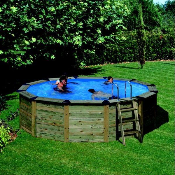 Kit piscine hors sol bois 5 00m x 1 32m piscines for Mini piscine bois en kit