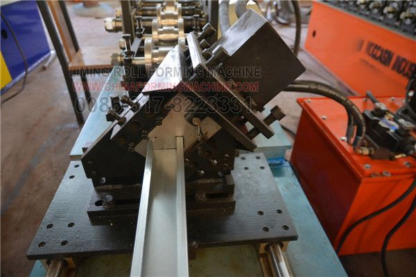 Here are the #Omega #profile #light #gauge #keel #roll #forming #machines for EURO customer, Omega profile stud roll forming machine. All the roller and cutter we use Cr12 steel with quenched treatment to make sure the the roller more stronger and not scratch the surface of produce, and the cutter more harder and long lived.