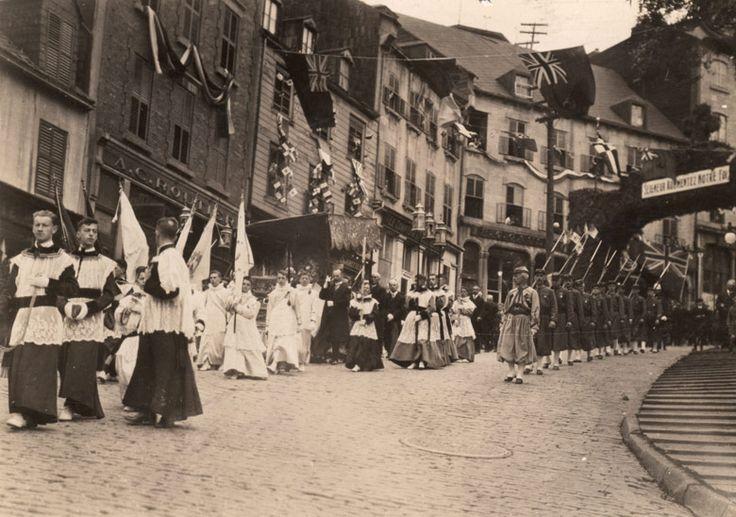 La Fête-Dieu à Québec, 1919.