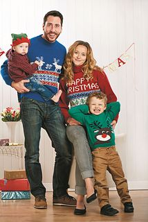 My family jumper patterns from Let's Knit! Christmas 2014