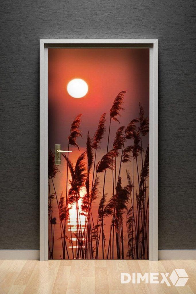 Fototapeta na dvere - západ slnka pri jazere | DIMEX