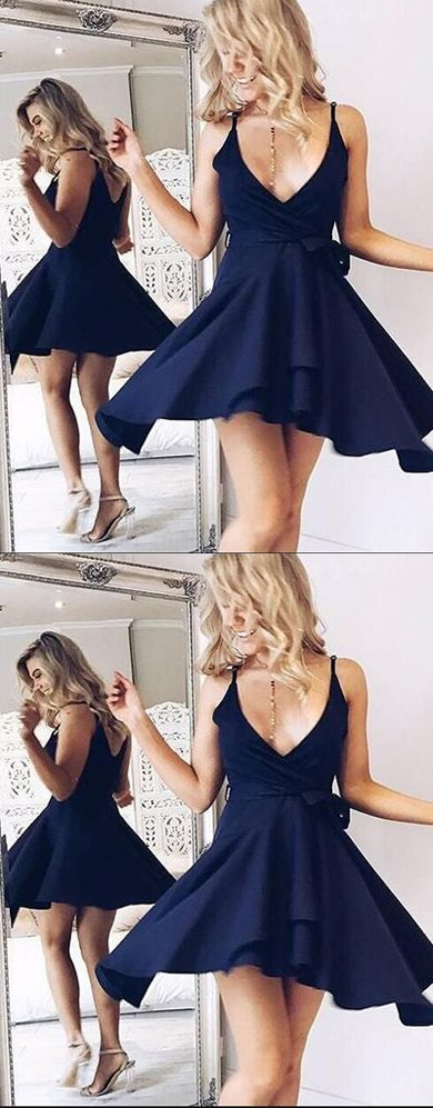 Homecoming Dresses,Prom Dresses Short,Cheap Homecoming Dress,Short Prom Dress,Sexy Homecoming Dress,Fashion Gowns Prom,Dresses for Teens,Prom Gowns,Graduation Dress,Cute V-Neck Homecoming Dress, Dark Navy Blue Homecoming Dress, Cheap Prom Dress Short, Fashion Homecoming Dress for Girls, Graduation Dresses for Teens