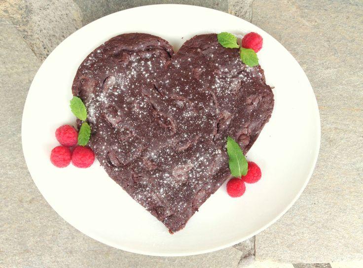 lindastuhaug | Sunn brownies med innbakt sjokoladeglasur - lindastuhaug